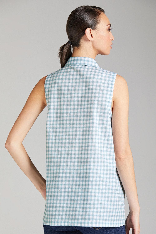 696f6272 Capture Sleeveless Gingham Shirt Online | Shop EziBuy