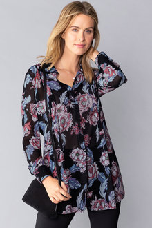 Capture Chiffon Pleat Front Shirt
