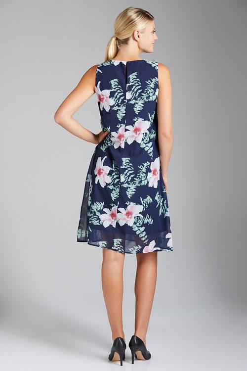 Capture Chiffon Printed Swing Dress