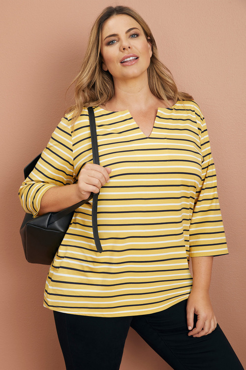 Sara Notch Neck Tunic