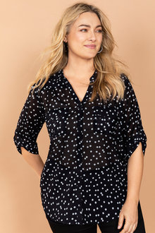Plus Size - Sara Novelty Shirt