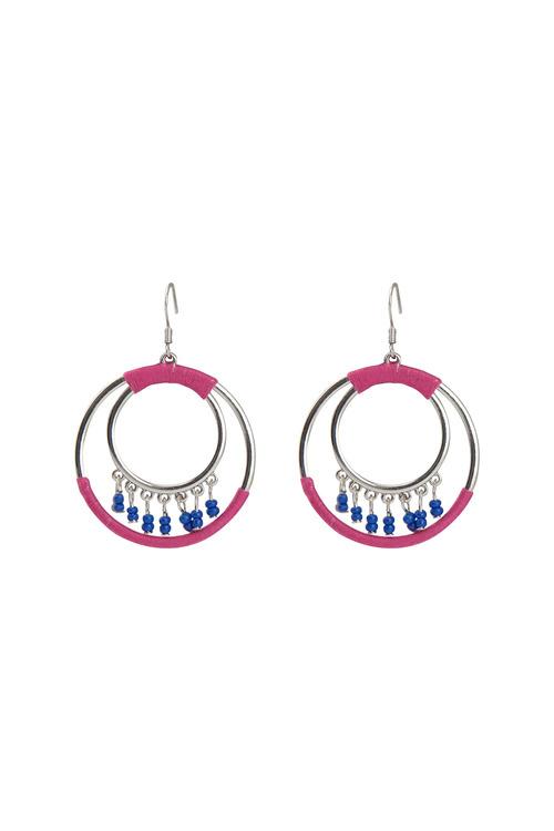 Amber Rose Carnival Hoop Earrings