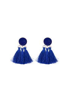 Amber Rose Tassel Spot Earrings