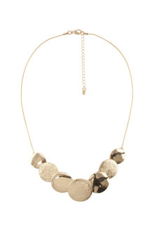 Amber Rose Textured Short Necklace