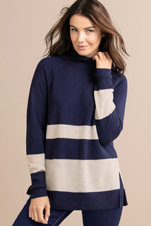 Capture Lambswool Stripe Sweater - 220807