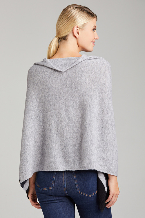 Capture Lambswool Colourblock Poncho