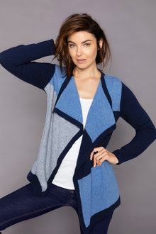 Capture Lambswool Colourblock Waterfall Cardigan - 220858