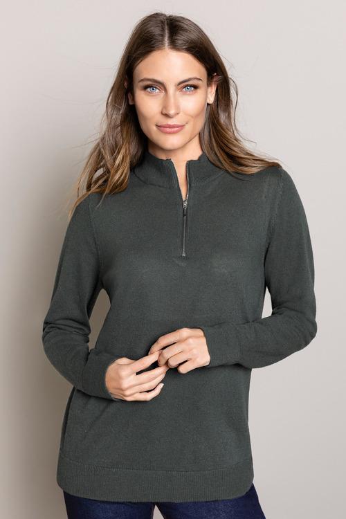 Capture Lambswool Half Neck Zip Sweater