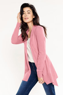 Capture Lambswool Split Back Drape Cardi - 220869