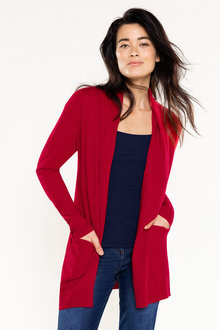 Capture Lambswool Rib Side Cardi - 220870
