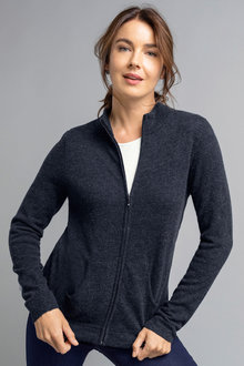 Capture Lambswool Full Zip Cardigan