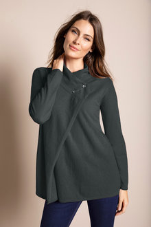 Capture Lambswool Safety Pin Cardigan - 220873
