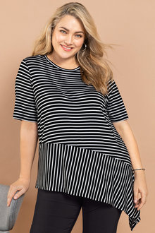 Plus Size - Sara Spliced Tee