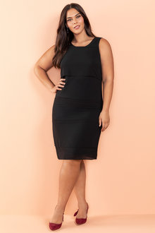 Plus Size - Sara Chiffon Layer Dress