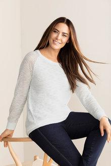 Plus Size - Sara Pointelle Jumper