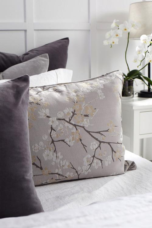 Cherry Blossom Jacquard Duvet Cover Set