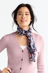 Blue Abstract Scarf