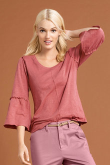 Emerge Ruffle Sleeve Top