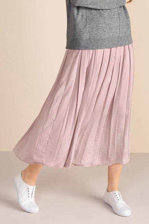 Emerge Hammered Satin Midi Skirt