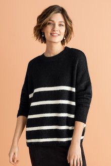 Emerge Striped Knit Sweater
