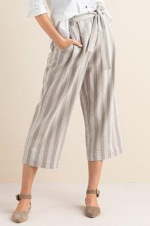 Linen Yarn Dye Culotte