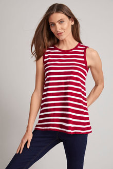 Capture Cotton Stripe Tank - 220991