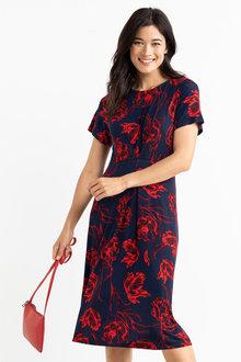Capture Pleat Detail Dress