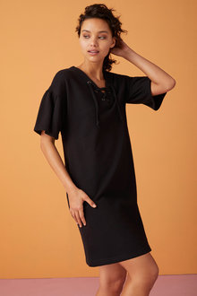 Capture Ruffle Sleeve Dress - 221004