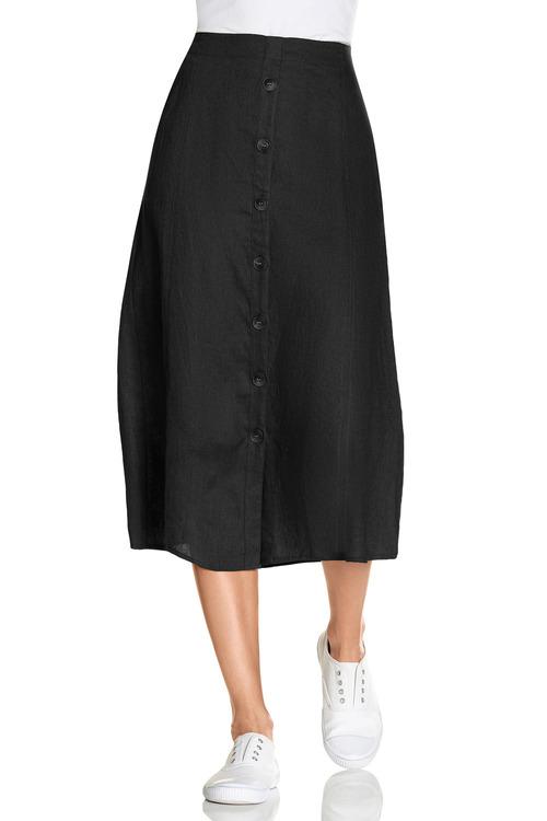 Capture Linen Button Up Midi Skirt