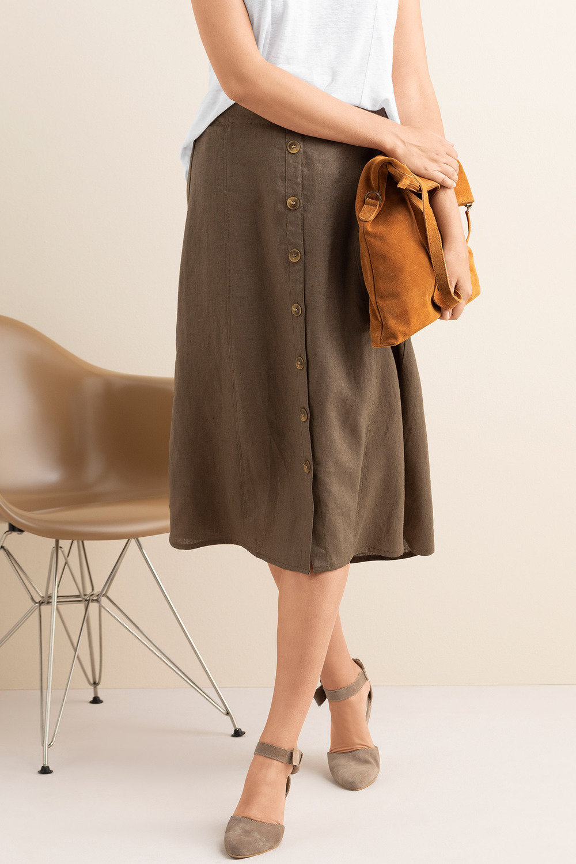 387ce1910f Capture Linen Button Up Midi Skirt Online