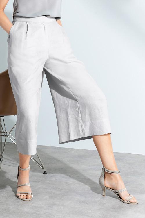 Grace Hill Wide Leg Linen Culotte