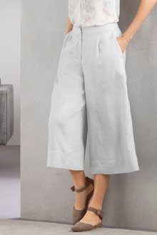 Grace Hill Wide Leg Linen Culotte