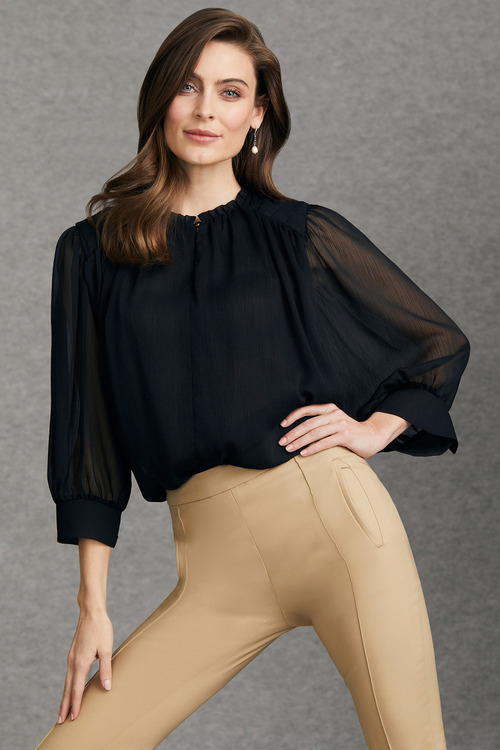 Grace Hill Gathered Blouse