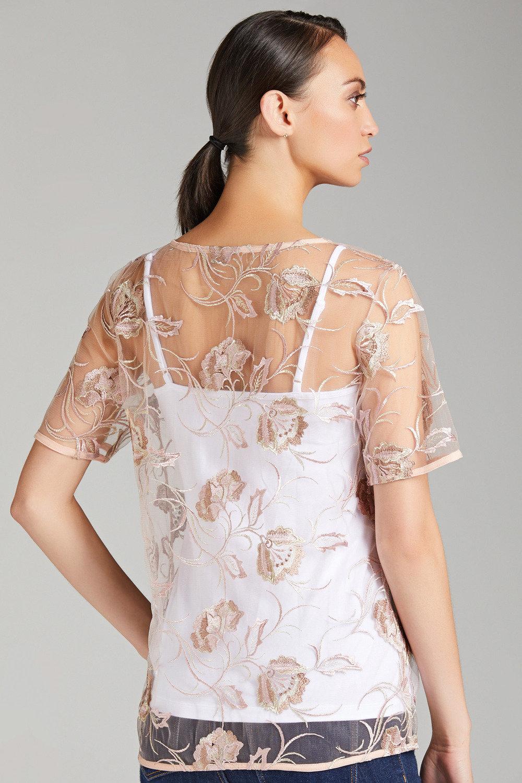 fd7e4935e8 Grace Hill Embroidered Lace Top Online