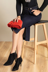 Capture Denim Button Midi Skirt