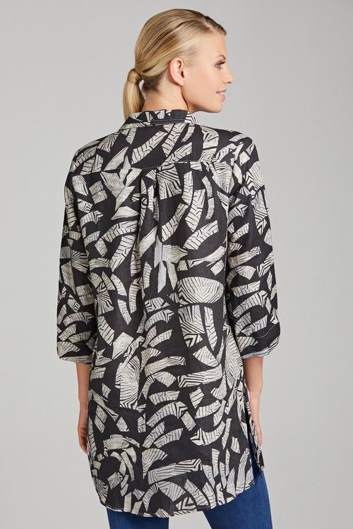 Grace Hill Linen Longline Shirt