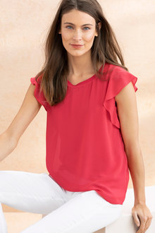 Capture Ruffle Sleeve Top - 221035