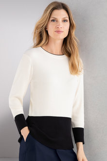Grace Hill Ribbed Colourblock Knitwear
