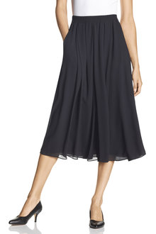 Grace Hill Chiffon Pleat Midi Skirt