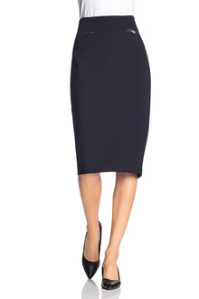Grace Hill Ponte Zip Detail Skirt