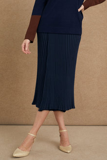Grace Hill Knitted Pleat Skirt