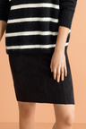 Emerge Suedette Panelled Pencil Skirt