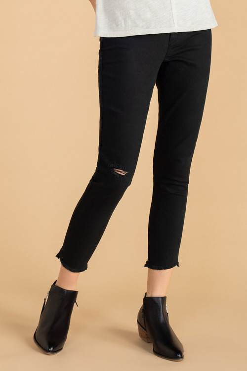 Emerge Fray Hem Distressed Skinny Jeans