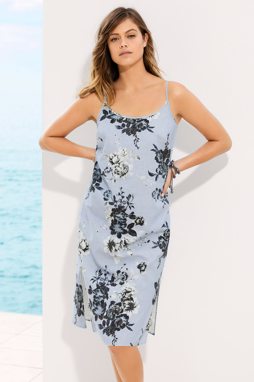 Emerge Linen Blend Midi Slip Dress