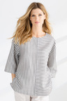 Grace Hill Linen Mix Stripe Top
