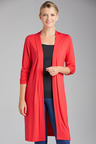 Capture Ruched Sleeve Longline Cardigan