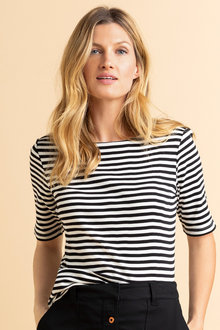 Capture Cotton Stripe Short Sleeve Tee