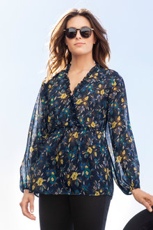 Emerge Printed Boho Blouse - 221100
