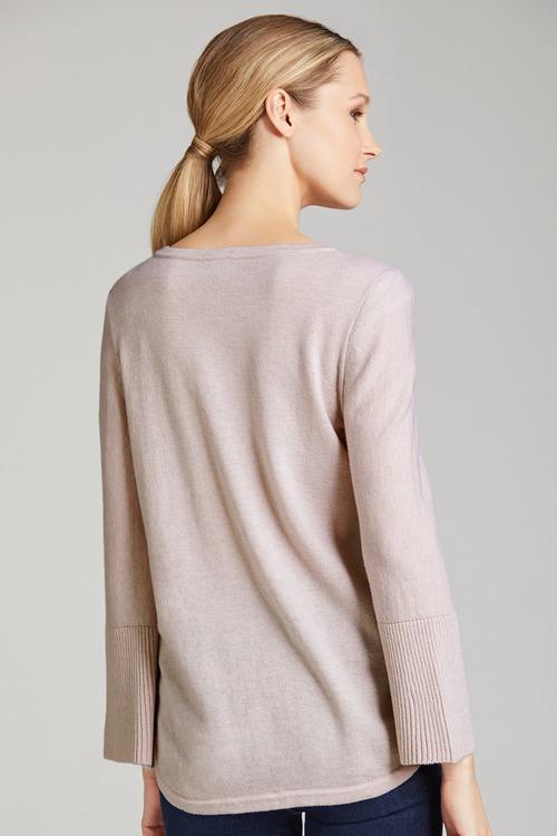 Grace Hill Cashmere Blend Crew Neck Sweater