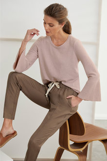 Grace Hill Cashmere Blend Crew Neck Sweater - 221108